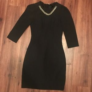 H & M Black fitted dress